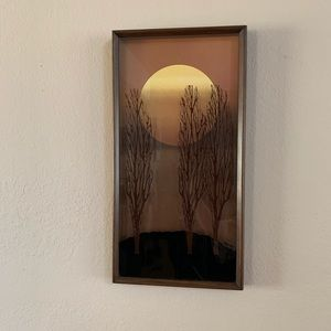 SOLD - Virgil Thrasher Three trees Painted 3D